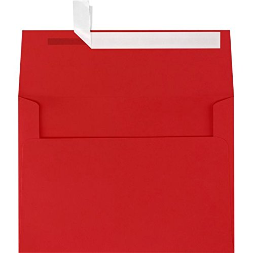 A2 Invitation Envelopes w/Peel & Press (4 3/8 x 5 3/4) - Ruby Red (1000 Qty.) by LUXPaper