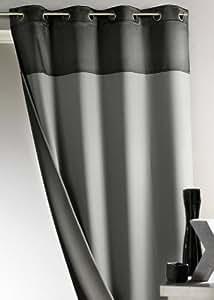 Cortina Casa - Cortina Bicolor 100 % Ocultante Reversible Gris