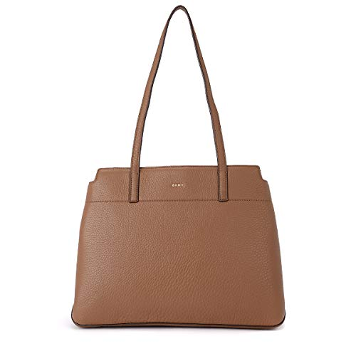 Dkny Women's Borsa A Spalla Dkny Bellah Camel Leather Shoulder Bag Brown