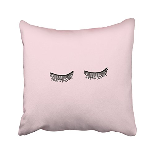 Capsceoll love simple eyelash pillow Decorative Throw Pillow Case 20X20Inch,Home Decoration Pillowcase Zippered Pillow Covers Cushion Cover with Words for Book Lover Worm Sofa - Tumblr Black Boyfriend My