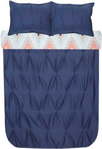 Blissliving Home Harper Navy Duvet Set, King By Blissliving Home