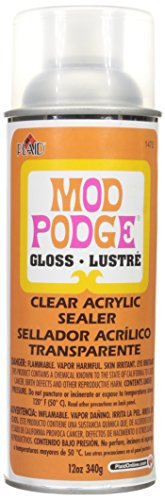 Mod Podge Clear Acrylic Sealer (12-Ounce), 1470 Gloss