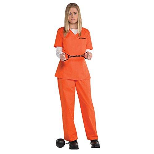 Orange Prisoner Costume for Women, Standard, by Amscan