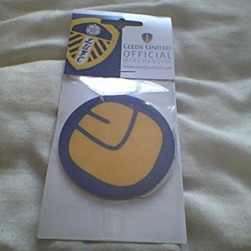 Official LEEDS UNITED FC smiley face LU air freshener very rare retro 70s style (Leeds Clock)