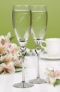 Entwined Hearts Flutes - Personalized