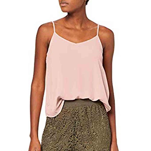 V Neck Solid Cami, QIQIU Womens Sexy Halter Sleeveless Casual Summer Sling Tank Tops Shirts Vest Pink