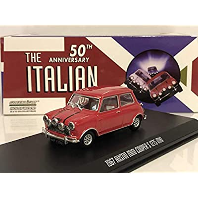 Greenlight 86550 1: 43 The Italian Job (1969) - 1967 Austin Mini Cooper S 1275 Mki - Red with Black Leather Straps: Toys & Games