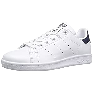 adidas Originals Women's Shoes Stan Smith Fashion Sneakers, White/White/Collegiate Navy, 8.5 M US