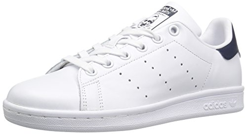 adidas Originals Women's Shoes Stan Smith Fashion Sneakers, White/White/Collegiate Navy, 7.5 M US