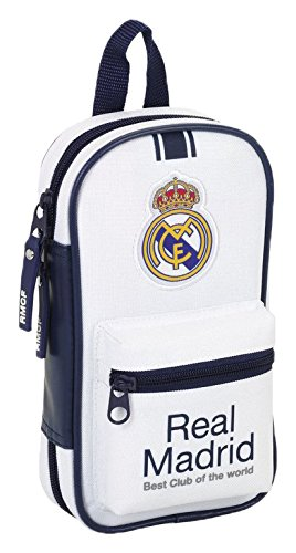 Real Madrid- Plumier con 4 portatodos llenos, 1ª equipacion Temporada 2016/2017 (SAFTA 411654747),, 23 cm (