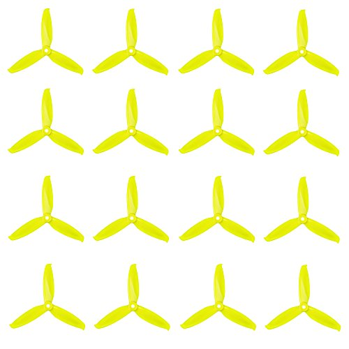 Green Battery Strap High Speed Propellers Polycarbonate 5-inch Tri Blades Quadcopters /& Mutlirotors Props 5x5.1x3 16 Pieces RAYCorp 5051 3-Blades 8CW, 8CCW