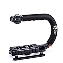 Zeadio Stabilizing Handheld Stabilizer Handle Grip with Accessory Mount for Camera Camcorder DSLR DV Video, Canon Nikon Sony Panasonic Pentax Olympus Camcorders