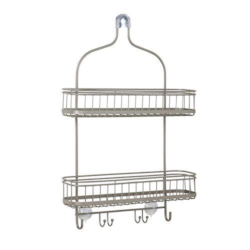Zenna Home Extra Wide Shower Caddy, Satin Nickel