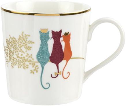 Gift Boxed Portmeirion Sara Miller London Feline Friends Mug 340ml