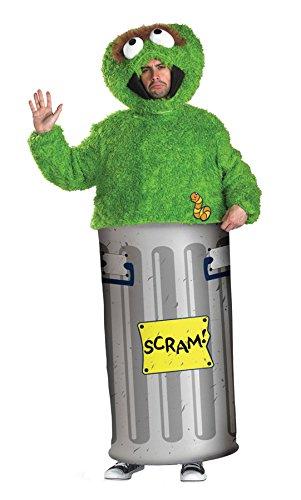 UHC Men's Street Cartoon Oscar The Grouch Sesame Retro Fancy Dress Costume, Medium (38-40) ()