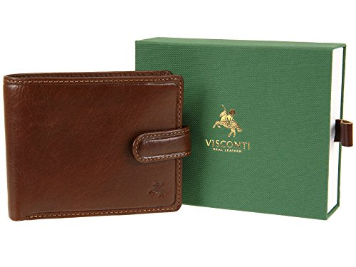 Tan Bifold Mens TSC47 Visconti Leather With Tan RFID Wallet Blocking Fraud Protection ABHO6nxqw
