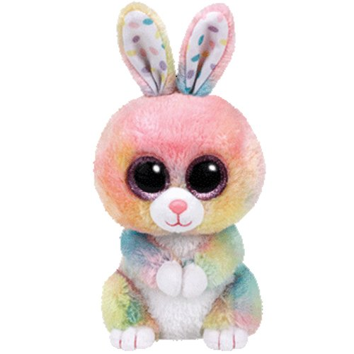 Ty Beanie Boos Bubby Easter Multicolor Rabbit - 6 in