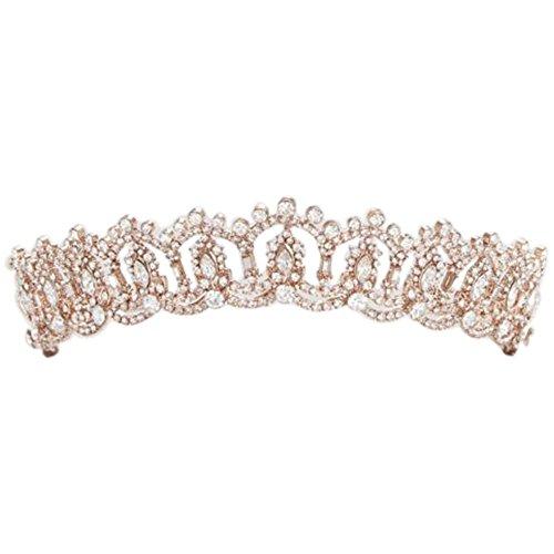 Crystal Princess Tiara Style H912, Rose Gold
