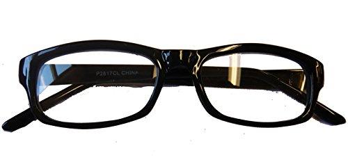 2817/24 (Black) Square Frame Eyeglasses With Clear - Frames Glasses Librarian