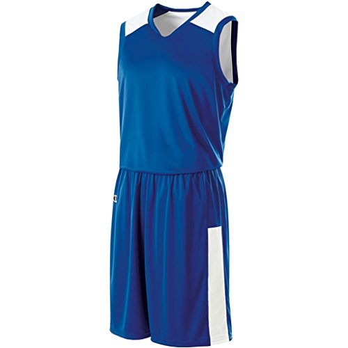 Holloway Ladies Reversible Nuclear Jersey (X-Large, Royal/White) by Holloway