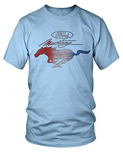 Amdesco Men's Ford Mustang Officially Licensed T-Shirt, Light Blue Medium