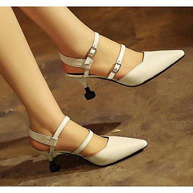 LvYuan-ggx Damen High Heels Komfort Pumps Echtes Echtes Echtes Leder Frühling Normal Komfort Pumps Weiß 5 - 7 cm 343730