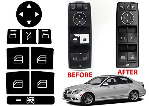Alpha Window Switch Button Repair Stickers for 2008-2014 Mercedes Benz W204 C300 C350