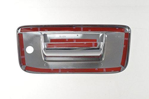 Fits 07-13 GMC SIERRA 1500/07-13 CHEVY SILVERADO 1500 W/KEYHOLE NO CAMERA - Chrome Tailgate Handle Covers