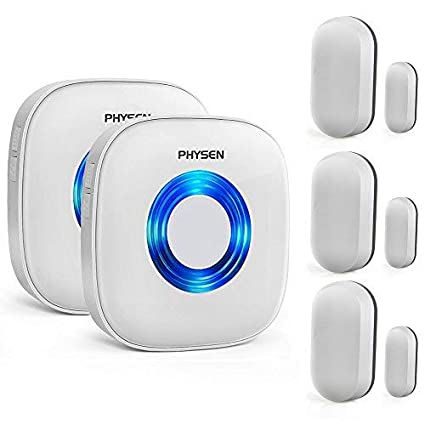 Wireless Door Open Chime Magnetic Sensor Alarm Entry Security Wireless Doorbell