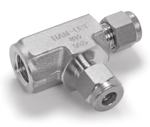 Ham-Let Stainless Steel 316 Let-Lok Compression Fitting, Tee, 1/8