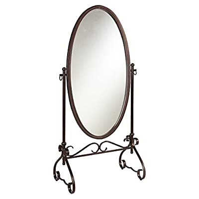 Linon Clarisse Metal Scroll Cheval Mirror