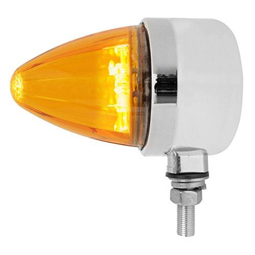 Grand General 81970 Amber/Amber Chrome Die Cast 19 LED Single Faced Pedestal Light