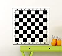 Chessboard Decal Chess Board Wall Vinyl Sticker Checkerboard Mural Home Living Room Design Interior Art Decoration Any Room Mural Waterproof Sport Vinyl Sticker (128ex)
