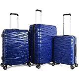 TITAN Hard Case Luggage - 4 Wheel with 5 Pieces, Blue