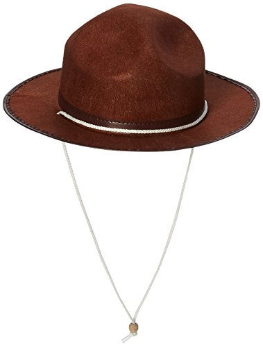Jacobson Hat Company Men's Permafelt Mountie with Grosgrain Band, Brown, Adult -