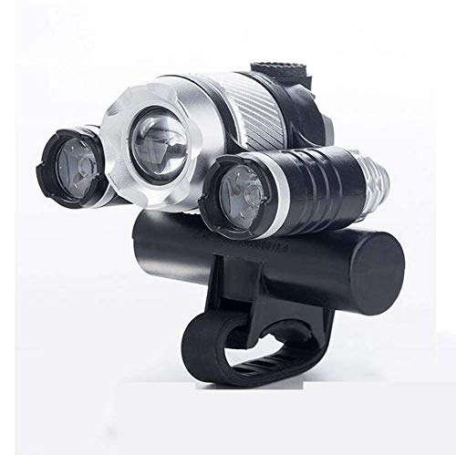 Bike Lights, LED Bike Light USB Rechargeable,Waterproof Front Bicycle  Lights Headlight 4 Modes Cycle Light Safety for Night Rider
