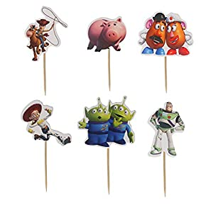 48pcs The toy game story Cupcake Toppers for Birthday Party Cake Decoration Supplies