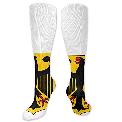 MSONNET Retro German Flag Eagle - 3D Antibacterial Athletic Socks Compression Sock Crew Socks Long Sports Knee High Socks for Boys Girls Kids Toddler