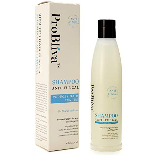 ProBliva Fungus Shampoo for Hair & Scalp - for Men and Women - Fights Fungus, Ringworm, Itchy Scalp - Antimicrobial, Anti-Bacterial - Contains Natural Ingredients Coconut Oil, Jojoba Oil, Emu Oil