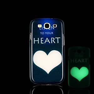WQQ Teléfono Móvil Samsung - Cobertor Posterior - Gráfico/Diseño Especial/Resplandor en la Oscuridad - para Samsung S3 I9300 Plástico )