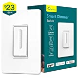 Smart Dimmer Switch, Treatlife WiFi Light Switch for Dimmable LED/Halogen/Incandescent Bulbs, Compatible with Alexa, Google Assistant/IFTTT, Remote Control, Single-Pole, Neutral Wire Required