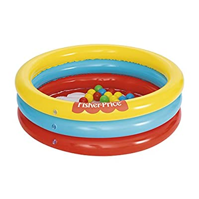 Bestway 93501 Fisher-Price Paddling Pool with 25Ball Toys: Toys & Games