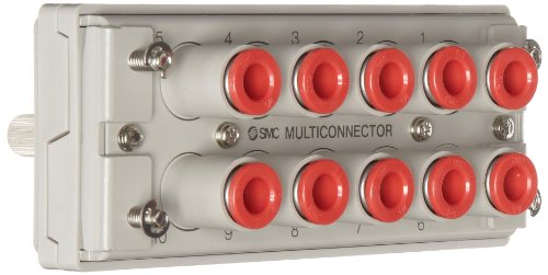SMC KDM10-07 PBT Multi-Connector for Tubing, 1/4