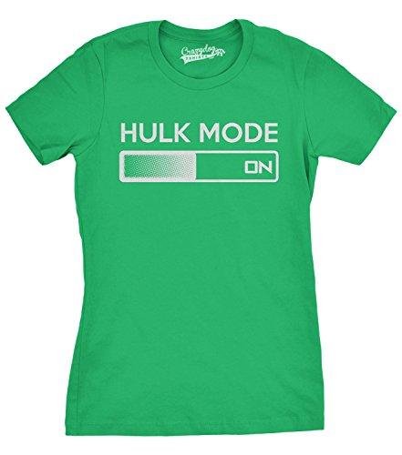 Crazy Dog TShirts - Women's Hulk Mode On T Shirt Funny Comic Book Superhero Tee For Women - Camiseta Para Mujer