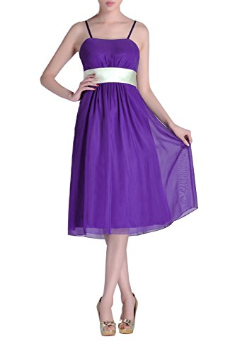 Tea Chiffon A Baby Strapless line Dress Bridesmaid Length Pink qqRZtwa