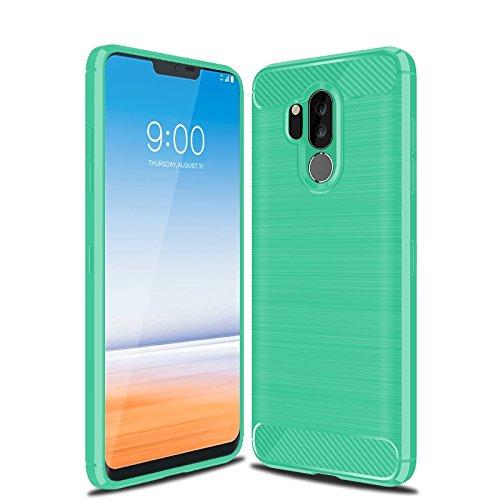 best service 35fc7 9283e LG G7 Case, LG G7 ThinQ Case, Cruzerlite Carbon Fiber Shock Absorption Slim  Flexible Case for LG G7/ LG G7 ThinQ (Teal)