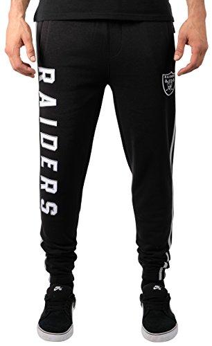 (ICER Brands Adult Men Jogger Pants Active Basic Fleece Sweatpants, Team Color Stripe, Large)