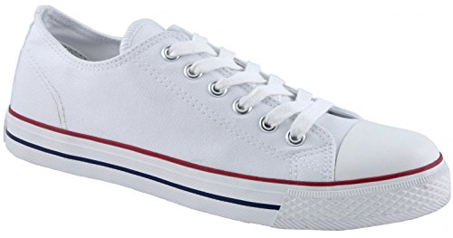 white ladies Weiß canvas 832450 shoes 109 Canadians 6nXW0Rqx0