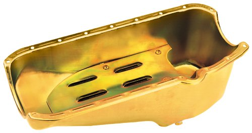 Milodon 31503 Steel, Gold Zinc Plated Street Oil Pan with...