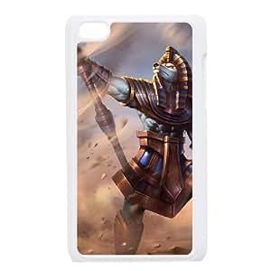 iPod Touch 4 Case White League of Legends Pharaoh Nasus EUA15991990 Custom Phone Case Cover For Women